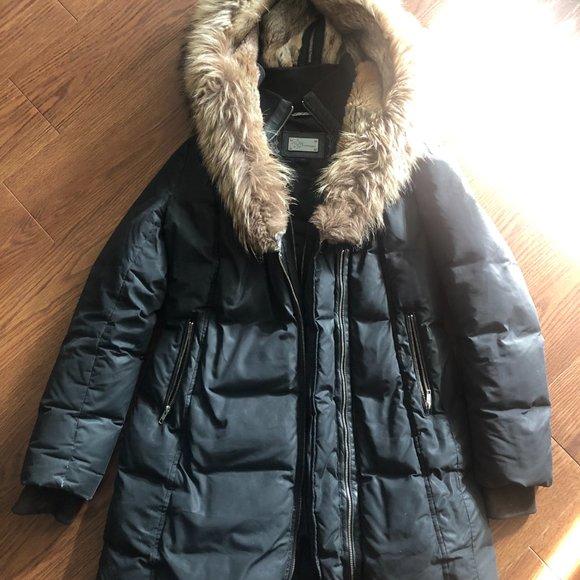 Mackage Adali Down Jacket with Fur, Size L